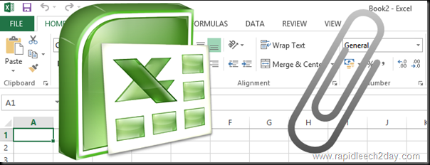 Attach or Insert Office Excel Worksheet