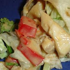 Ginger-Peanut Chicken-Salad Wraps (Cooking Light)