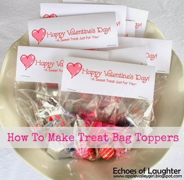 Valentine's Treat Bag Toppers