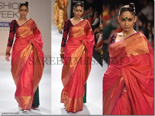 Gaurang_Shah_Red_Traditional_Saree