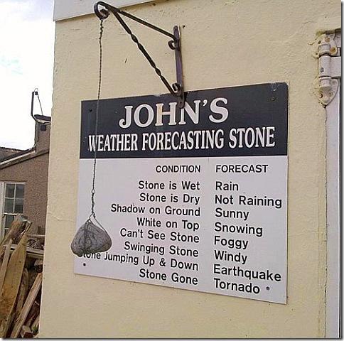 Камень для предсказания погоды - Johns weather forecasting stone