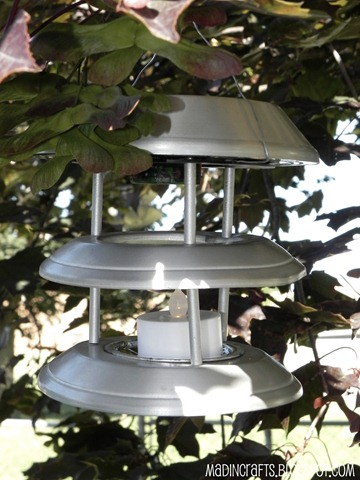 outdoor lantern from solar light
