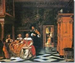 pieter-de-hooch-retrato-de-una-familia-tocando-musica-1663-cleveland-museum