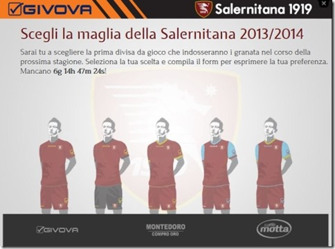salernitana maglie 2013 2014