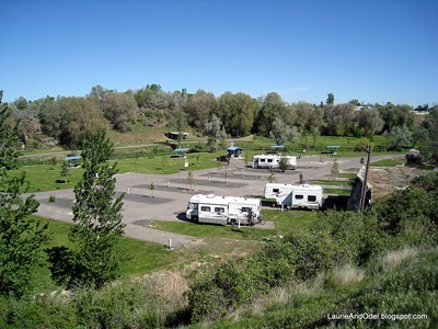 Some of the campsites at Rock Creek Park