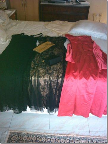 Vestidos de fiesta y bolsos