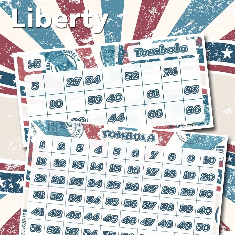 Cartelle tombola Liberty
