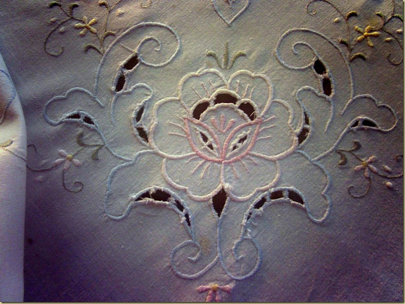 pastel tablecloth close