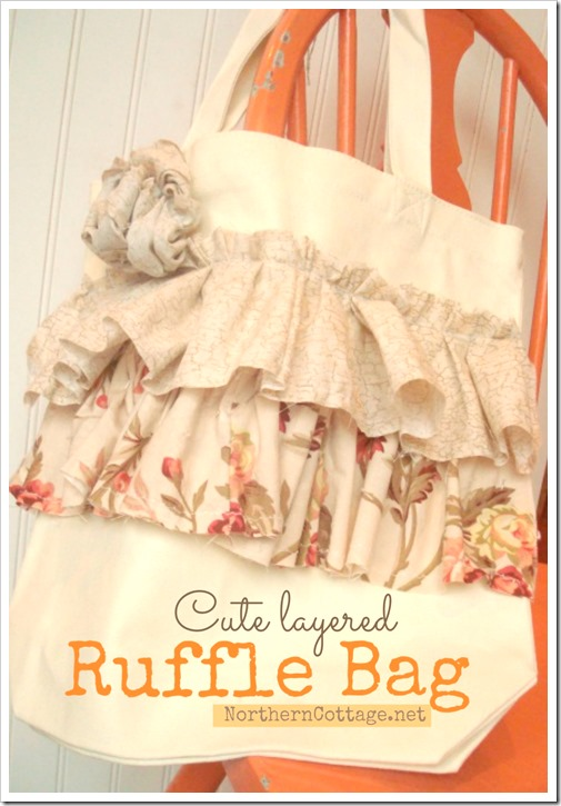 Cute layered ruffle bag @ NorthernCottage.net