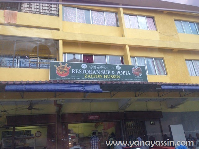 Sup Sedap Restoran Zaiton Hussin Setapak
