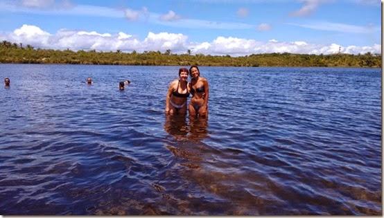 Lagoa Azul com a amiga Lia