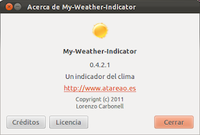 Liberado My-Weather-Indicator 0.4.2.1 para Oneiric Ocelot