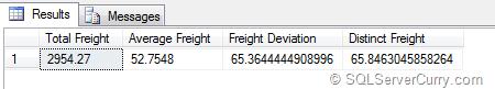 SQL Server Standard Deviation