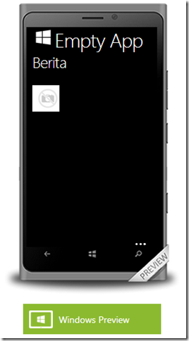 Mengisi Konten dengan Windows App Studio
