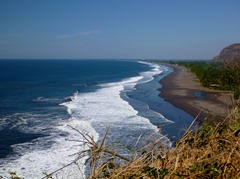 First view of the Pacific Coast in El Salvador