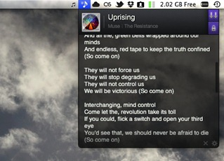 Free Lyrics App for Mac iTunes
