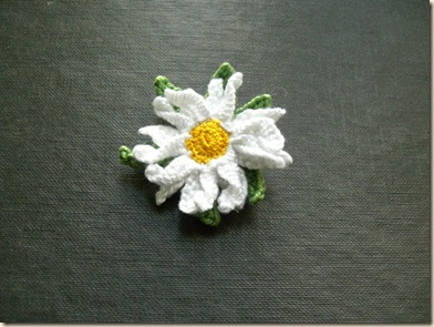 Stumpwork Daisy Brooch