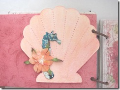 Beach journal scallop shell back