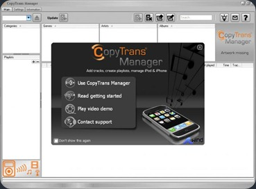 Free CopyTrans iPod Manager