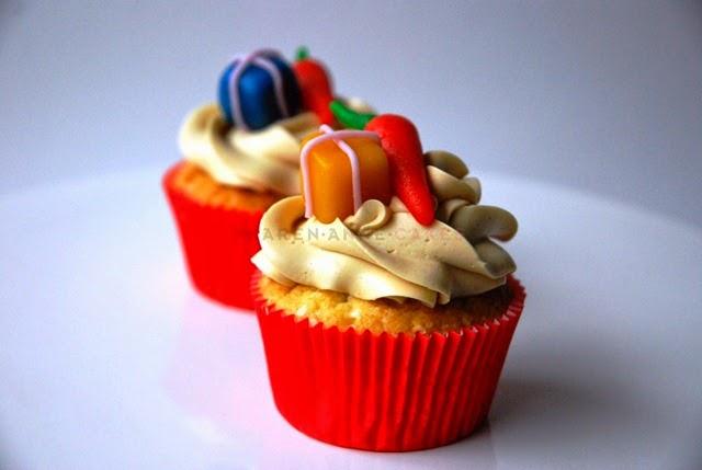 Cupcake met toef sint en piet (Kopie)