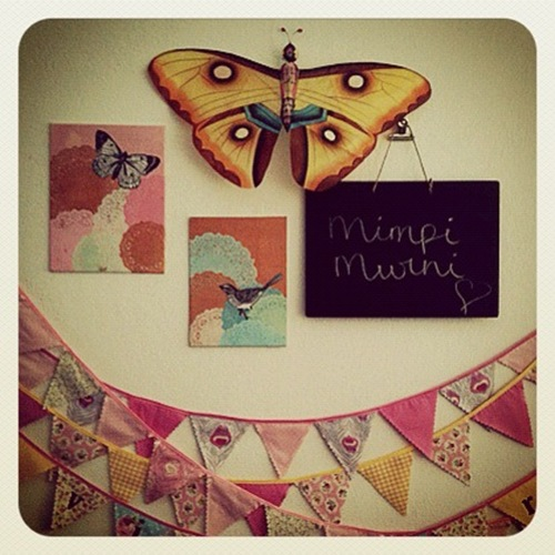 My new buntings for sale at my Etsy store! Check it out: www.mimpimurni.etsy.com