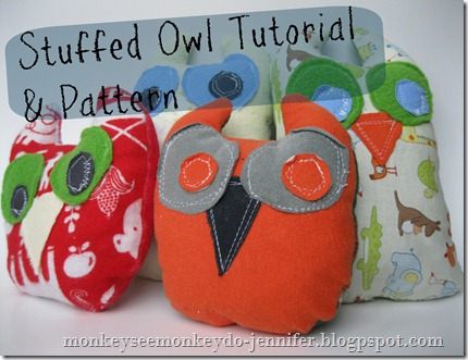 owl Stuffie and pattern #owlpattern #owlstuffedanimal