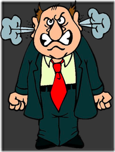 kartun lelaki sedang marah