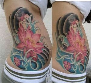 japanese lotus flower tattoo