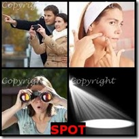 SPOT- 4 Pics 1 Word Answers 3 Letters