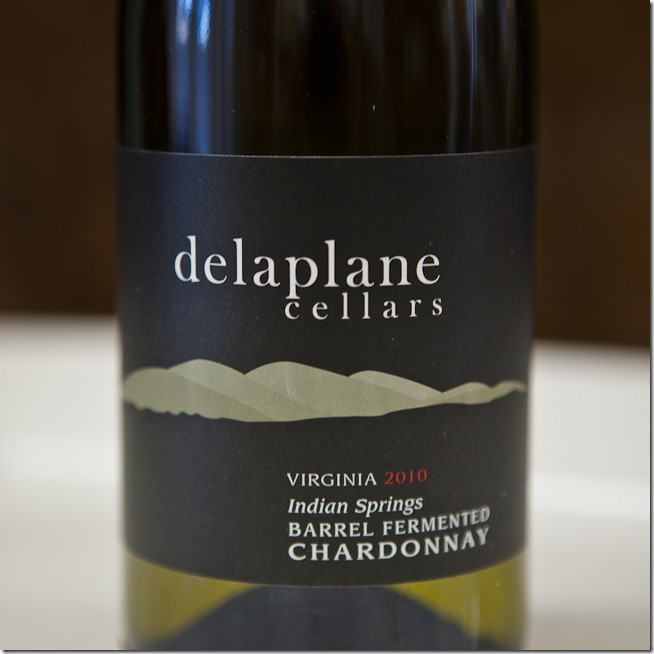 2010 Delaplane Cellars Virginia Indian Springs Barrel Fermented Chardonnay-2