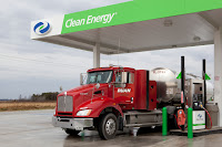 Public-access Clean Energy Fuels CNG station some 70 miles south of Chicago in Fair Oaks, Inc. supports a fleet of more than 40 Fair Oaks Dairy/Ruan Trucking Kenworth vehicles hauling milk to processing plants in Indianapolis, Murphysboro, Tenn. and Winchester, Ky.