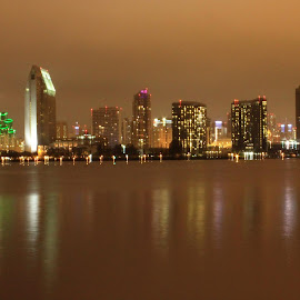 downtown sandiego from Coronado island by Soumi Bardhan - City,  Street & Park  Skylines