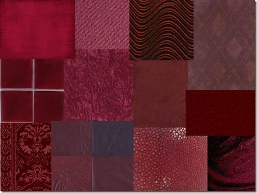 montagem burgundy texturas