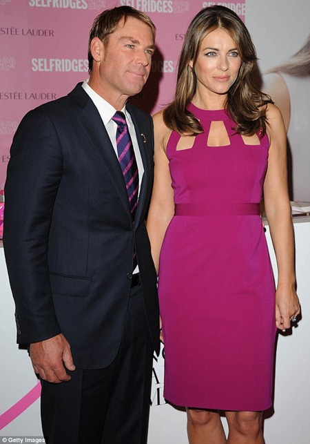 Liz Hurley and Shane Warne's Breast Cancer Awareness campaign