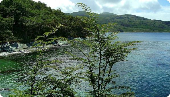 Vista da Bahia de Zaratiegui durante a Senda Costera