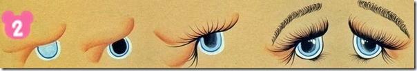 Pintando olhinhos de bonecas2