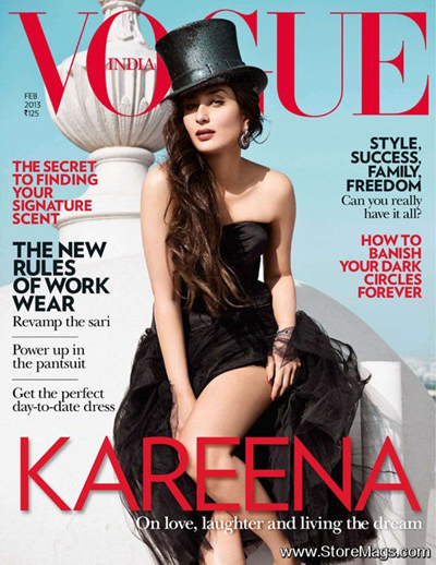 Kareena Kapoor on the cover of Vogue India Feb 2013