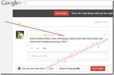 Cari traffic dan SEO google Plus 2 Tampilannya