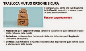 unicredit trasloca mutuo