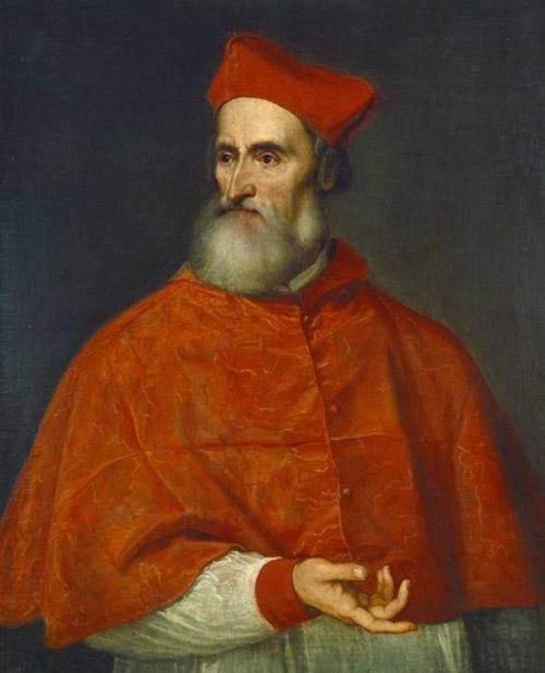 Tiziano ritratto di Pietro Bembo Cardinale
