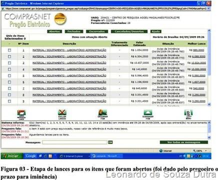 comprasnet.gov.br - dado pelo pregoeiro o prazo para iminência.
