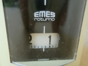Emes Roturno alarm clock front close up