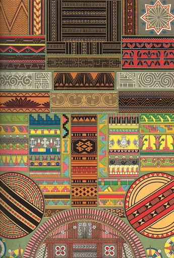 Primitive art from central Africa, Oceania, Peru and Mexico include fabrics, carvings and paintings.