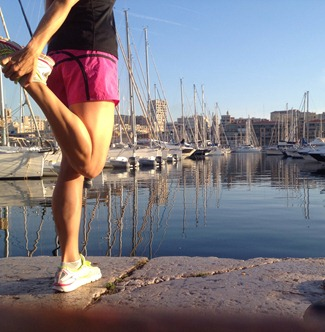 Running in Marseille France