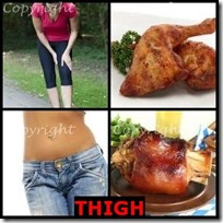 THIGH- 4 Pics 1 Word Answers 3 Letters