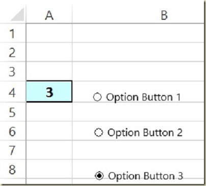 Form Controls in Excel - Option Button 3