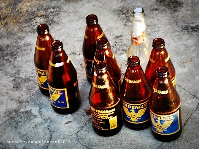 Gold Eagle Beer at Maribert Inland Resort in Pontevedra, Capiz