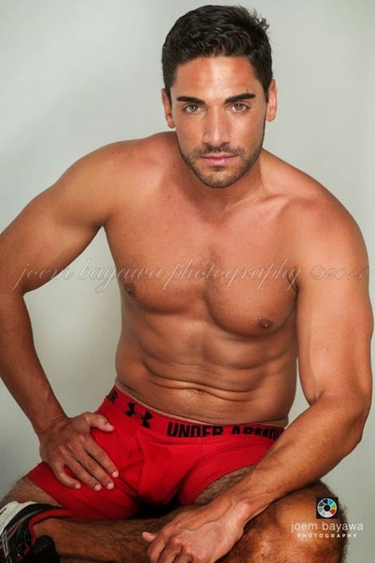 Zach Tesar in Red Trunks