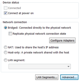 HANA VM needs networking