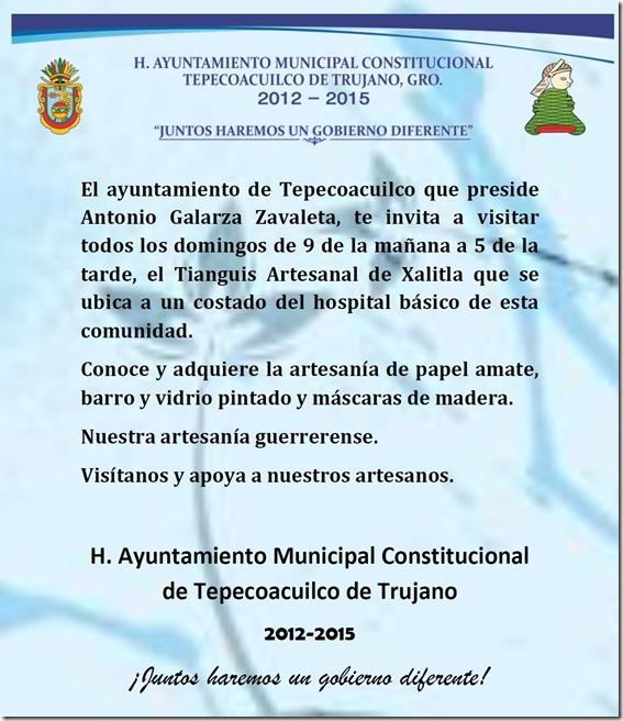 INVITACIÓN TEPECOACUILCO